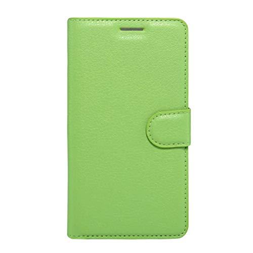 YKDY Lenovo Vibe K5 Funda de Cuero Genuinode Flip Horizontal de Textura de Litchi con Soporte y ranua de Tarjetas y Billetera (Color : Green)