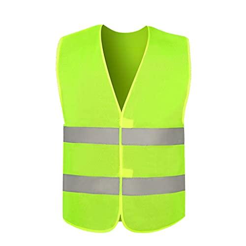 Chaleco de seguridad amarillo fluorescente con para hombres Mujeres Vestidos de alta visibilidad Chaleco reflexivo Chaleco de seguridad de seguridad combinar Operación nocturna Construcción