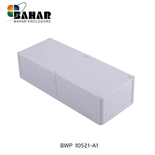 Bahar Enclosure Elektrische Kunstoffgehäuse Wasserdichte Anschlussdose Weiß Gehäuse Junction Box IP68 Waterproof Enclosure Kunststoffgehäuse BWP 10521-A1 (244 * 100 * 59 mm)