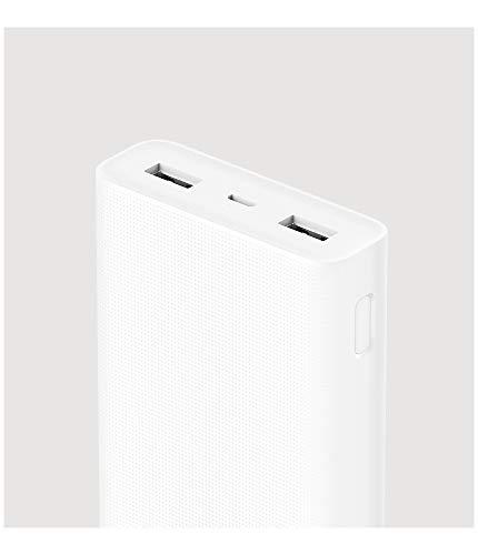 Xiaomi 20000 2C - Batería Externa (20000 mAh, Ión de Litio, Universal, ABS,PVC, Rectángulo) Blanco