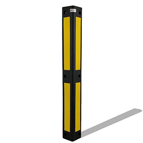 UvV® Reflex Eckwandschutz 90° schwarz retroreflektierende Folie Garagen Eckschutz Rammschutz Stützpfeiler, Hausecken) (Gelb)
