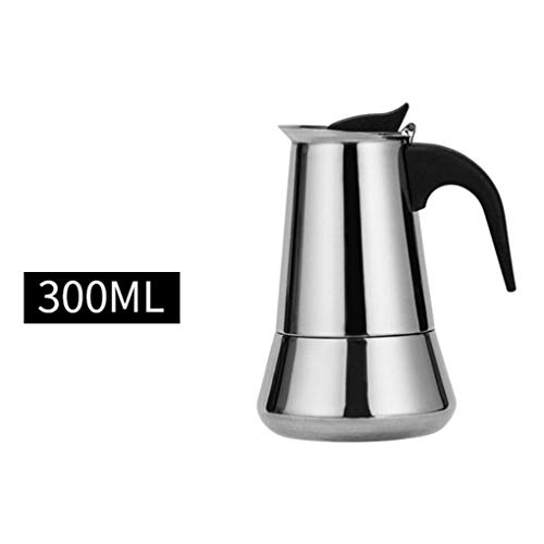 LYY Stainless Steel Coffee Pot Espresso Coffee Maker Electric Coffee Pot Induction Cooker Open Flame Universal,600ML