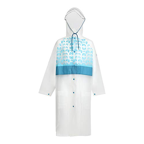 WIKI, From House of WILDCRAFT Boy's Mist Regular fit Raincoat (8903338268208_White_8-10 Years)