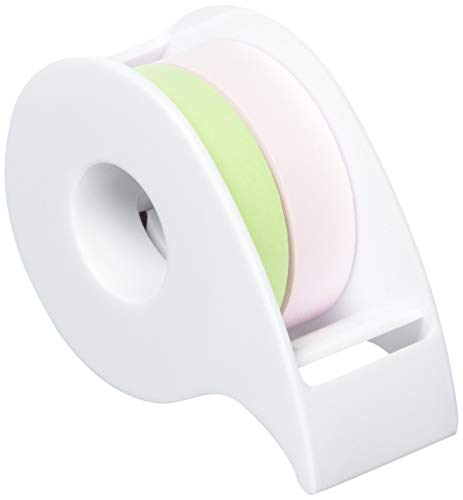ポストイット 付箋 全面粘着ロール 12mm×10m 2巻セット(ピンク&グリーン) ディスペンサー付