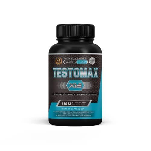 Testosterone booster | Testosterone puro con maca, ashwagandha e tribulus | Efficace potenziatore sessuale | Aumenta la massa muscolare, l'energia e le prestazioni sportive | 120 capsule