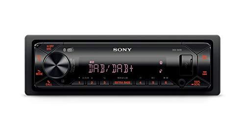 Sony DSX-B41D - Autoradio con Ricezione DAB/DAB+/FM, Microfono Esterno Incluso, Illuminazione Variabile, Dual Bluetooth, Siri Eyes Free, AUX e USB, potenza 4x55 W, File FLAC
