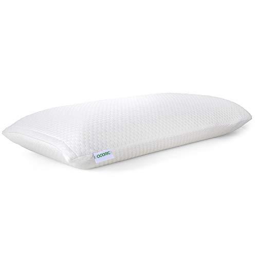 ADORIC Memory Foam Kissen, Kopfkissen Schlafkissen mit Umweltfreundlichem Kissenbezug, Weißes Kissen, 72 x 40 x 15 cm
