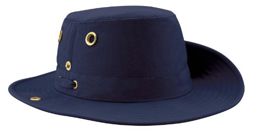 Tilley Unisex T3 Cotton Duck Snap-up Brim Hat, 7 3/4, Navy