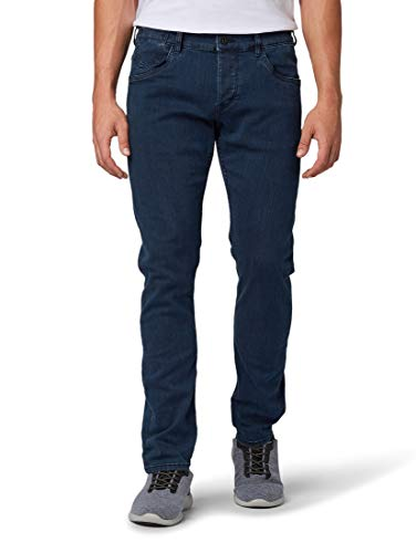 TOM TAILOR Herren Jeanshosen Troy Slim Jeans Dark Stone Blue Black Denim,31/34