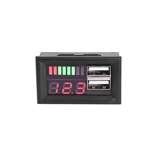 siwetg Rote LED Digitalanzeige Voltmeter Mini Spannungsmesser Batterie Tester Panel Für DC 12V Autos Motorräder Fahrzeuge USB 5V2A Ausgang