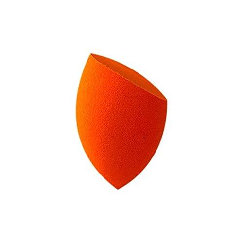 Poudre Puff Beauté Egg Cut Forme Bevel Portable Option Multi-Couleurs sans Latex Outils de Maquillage Beauté Naturelle 1pc Hydrophile Souple (Couleur : Orange)