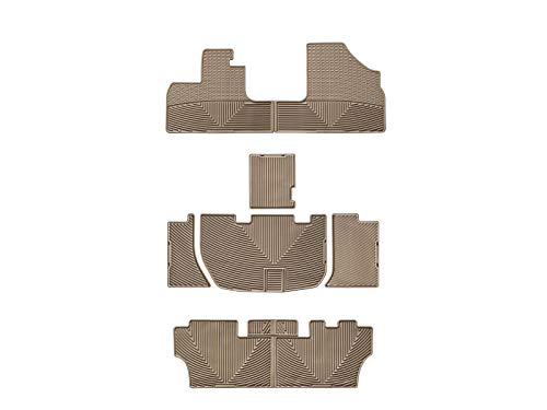 WeatherTech All-Weather Floor Mats for Honda Odyssey - 1st, 2nd, 3rd Row (Tan)