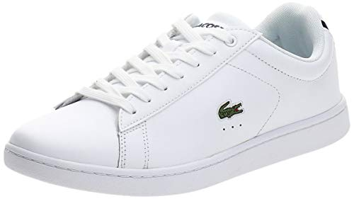 Lacoste Carnaby BL, Damen Sneaker, Weiß (weiß / dunkelblau weiß/dunkelblau), 38 EU (5 UK)
