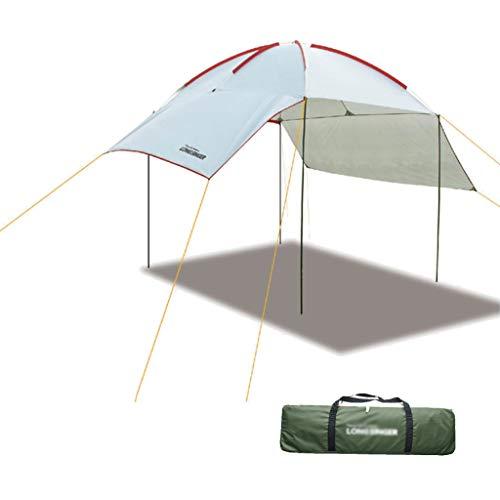 Cortina de la Vela Pergola Bloque UV 95% Cola Techo al Aire Libre Que acampa a Prueba de Lluvia portátil Sombra Pergola (Color : Blanco, Size : 230 * 320cm)