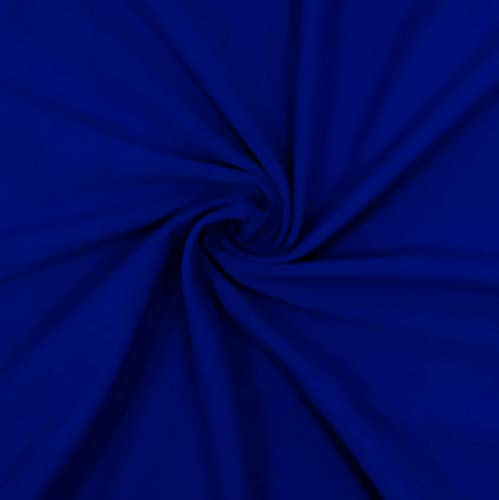 FabricLA Cotton Spandex Jersey Fabric 12 oz - Solid Colors (2 Yards, Royal Blue)