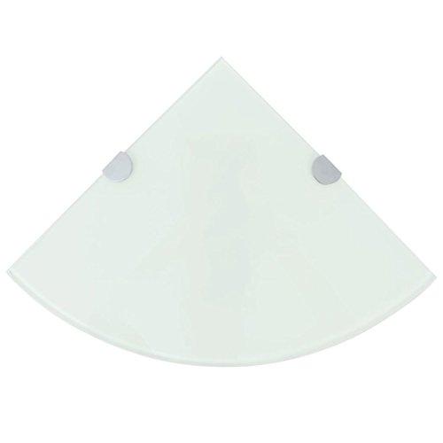 binzhoueushopping glazen plank hoekplank glas wandplank wit zwevende plank 25 x 25 cm
