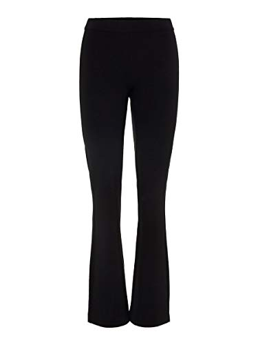 Vero Moda Vmkamma NW Flared Jersey Pant Noos Pantalones, Negro (Black Black), 34/ L30 (Talla del Fabricante: X-Small) para Mujer