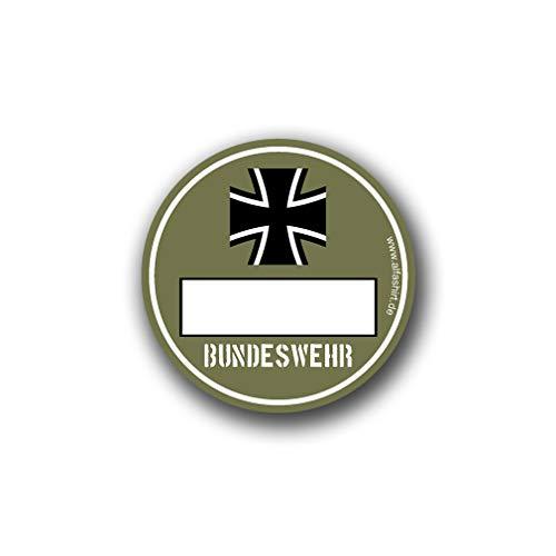 BW milieusticker Bundeswehr Olive milieuzone Army Fun Sticker 8cm #A4798