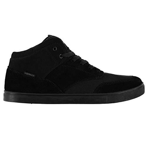 Airwalk Breaker Mid Herren Skate Schuhe Sneaker Freizeit Turnschuhe Logo Schwarz 9 (43)