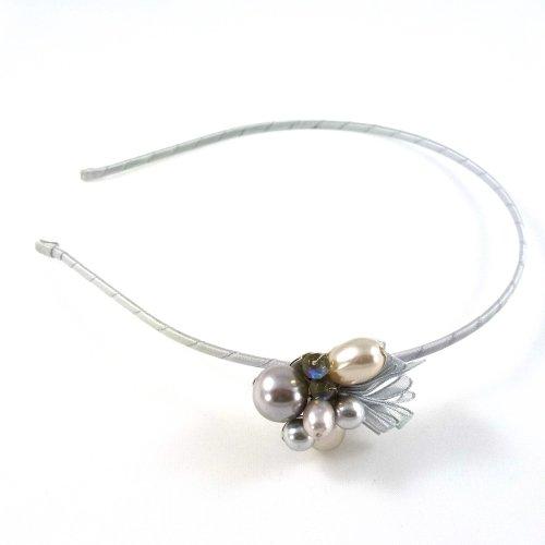 rougecaramel–Invernadero cabeza/Headband Joli diseño perla–Gris