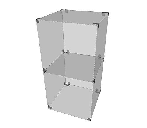 Glassteckvitrine mit Rückwand 40 x 40 cm Ladeneinrichtung Glas Ladenbau NEU