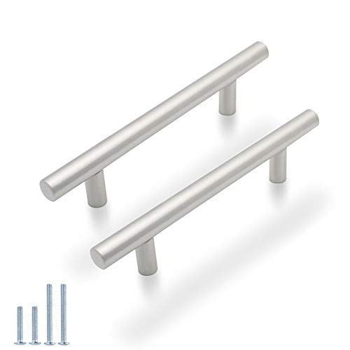 Probrico T Bar Cabinet Pulls Stainless Steel Kitchen Handles Wholesale (100Pack, CC:96mm)
