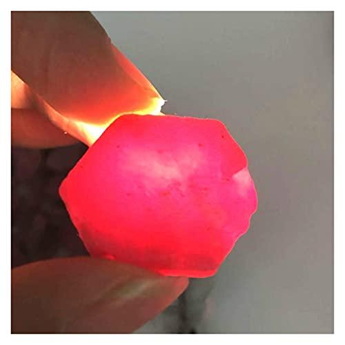 Changskj Cristal Natural Rugoso 2-4cm Joyas de Gema Mineral de rubí de rubí áspera Bricolaje Hacer la Muestra Reiki Sanando Crystal Rubin Raw Piedra de Gema (Farbe : 1pcs, Größe : 2-5cm)
