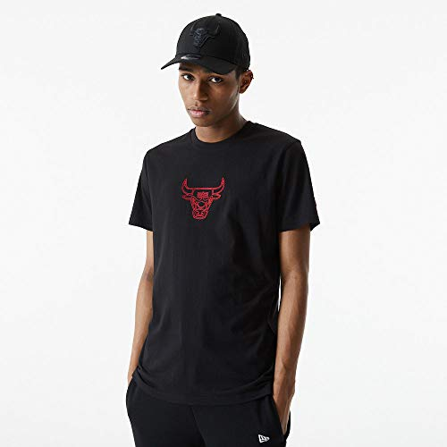 New Era NBA CHICAGO BULLS Chain Stitch Tee T-Shirt, Größe:XXL