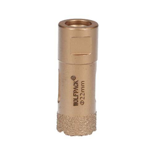 Corona Diamante Para Amoladora Ø 22 mm. Conexión Rosca M14. Corte Seco