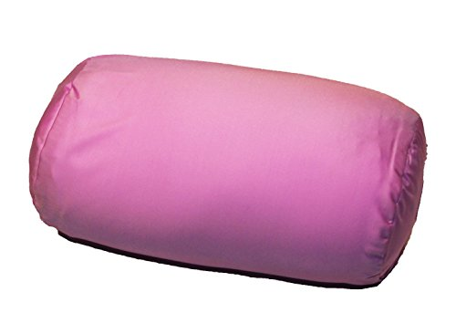 """Squishy Deluxe Tube Microbead Bolster Pillow with Stay-Cool Fill & Silky Removable Cover, Flexible, Head, Neck & Back Support for Home & Away, Carrying Case, 13 x 6"""", Purple"""