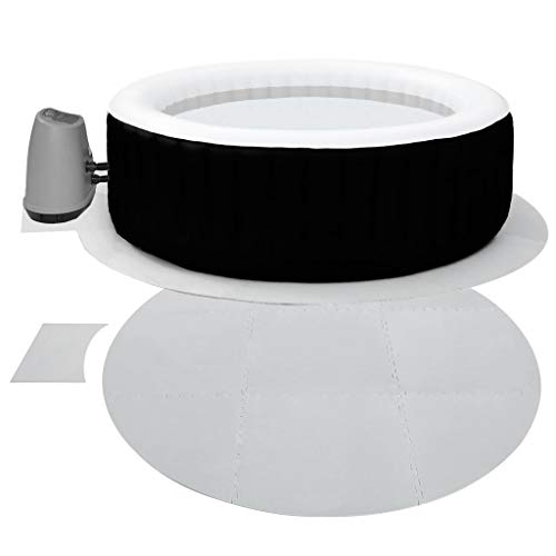 Interlocking Round Hot Tub Floor Protector, 9mm EXTRA THICK 10 Piece...