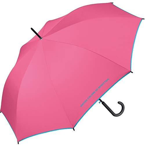 Benetton Stockschirm Long AC Solid - Hot Pink