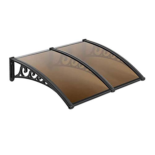 NEVY-tejadillo de protección Marquesina, Marquesinas para Puertas Exteriores Tejadillo De Protección Toldo para Puerta O Ventana (Color : Brown, Size : 80cmx200cm)