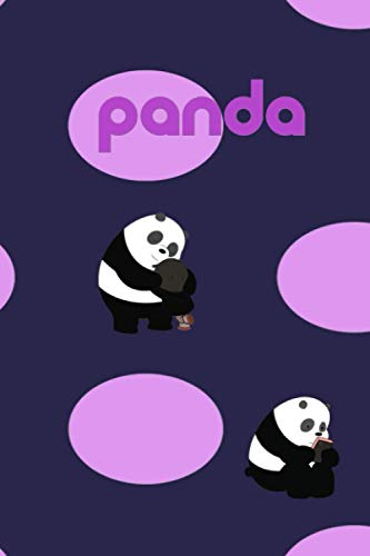 PANDA: Panda Cute Panda With Butterfly Design Panda Notebook. panda gifts for women. panda kids gift. panda gift for girls. panda book. panda bear.