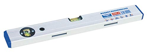 rabo - Aluminio nivel de burbuja magnética'Profi-M' ajustable, a prueba de golpes, anodizado natural, la precisión de 0,5 mm/m, peso 630G / M, longitud 120 cm