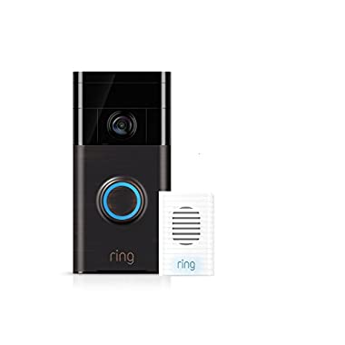 Wi-Fi Enabled Video Doorbell Venetian Bronze w/Chime Kit