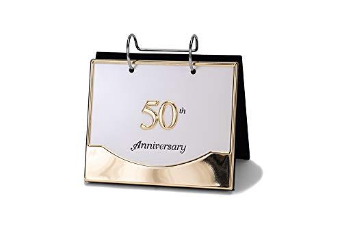 Malden International Designs Wedding 50th Anniversary Flip Album Two Tone Picture Frame  4x6  Gold/Silver