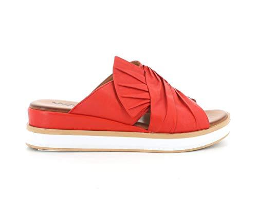 Melluso Sandalo Donna k55118 in Pelle Rossa con Sottopiede in Memory Foam 39