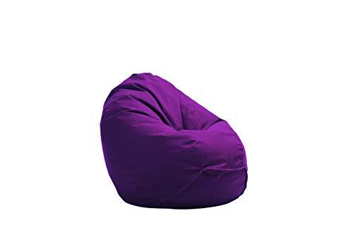 Bruni Sitzsack Classico L in Violett – XL Sitzsack mit Innensack zum Lesen, Abnehmbarer Bezug, lebensmittelechte EPS-Perlen als Bean-Bag-Füllung, aus Deutschland