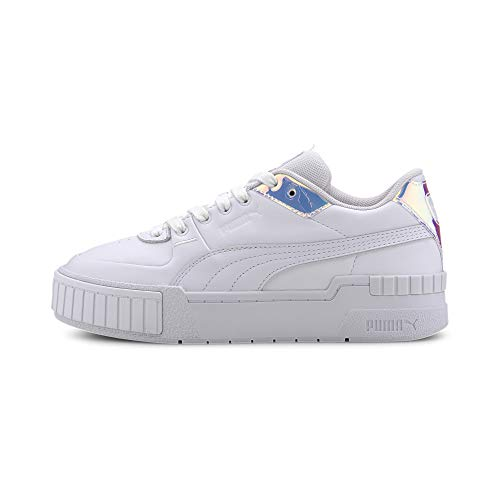PUMA, Cali Sport Glow, White-Purple Heather - 38