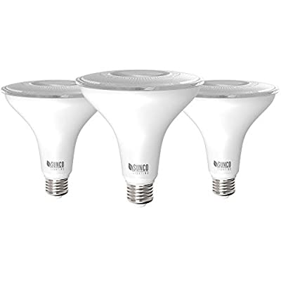 Sunco Lighting 3 Pack PAR38 LED Bulb 13W=100W, 3000K Warm White, 1050 LM, Dimmable, Indoor/Outdoor Spotlight, Waterproof - UL & Energy Star Listed