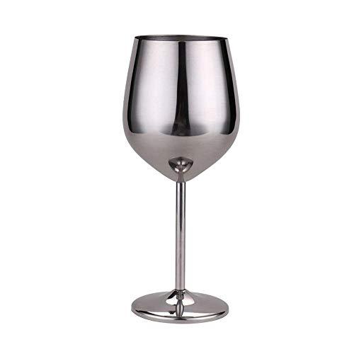 SKVVIDY Copas De Vino 500 ml Vino Rojo Plateado Plata Oro Copas de Oro Bebida Bebida Champagne Copa Fiesta barware Herramientas de Cocina de Acero Inoxidable Copas De Vino Tinto (Color : Silver)