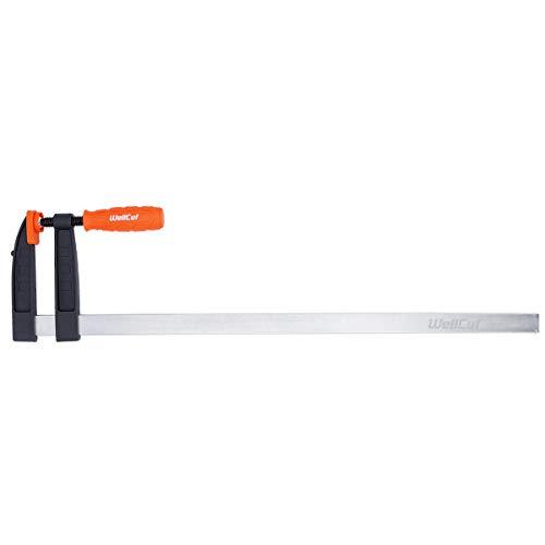 WELLCUT WC-FC1260 Robuste Schnellschiebe-Klemme für Holzarbeiten, F-Stange, 120 x 600, Spannkraft 320 kg