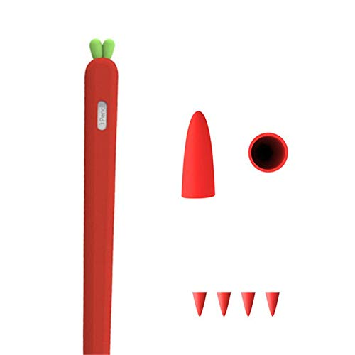 Cute Carrot Soft Silicone Pencil Cases For iPad Tablet Touch Pen Stylus Protective Sleeve Cover Anti-lost For Apple Pencil