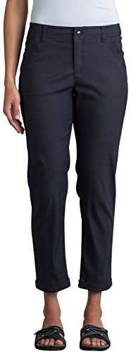 ExOfficio Women's Costera Lightweight Ankle Pants, Carbon, 12