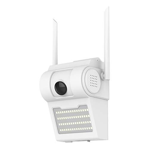 Sonline CáMara IP WiFi InaláMbrica Inteligente a Prueba de Agua 1080P HD + Luz de LáMpara de Pared para Seguridad del Hogar CáMara CCTV con Luz Inteligente-Enchufe de la UE