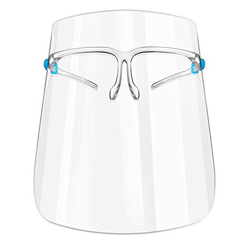 PRETYZOOM 2 Stück Gesichtsschutzmaske Klar Gesichtsschutz Visier Friseur Sicherheit Gesichtsschild Chemie Labor Arbeit Augenschutz Mundschutz Schutzhelm Kunststoff Gesichtsschutzschirm