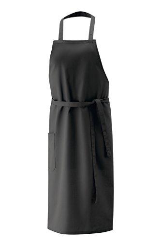 Latzschürze, Schürze 100x80 cm LxB in Schwarz LxB aus 35% Polyester, 65% Baumwolle und per Nackenband 3x verstellbar