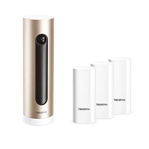 Netatmo Pack con Cámara de Vigilancia Interior WiFi + Sensores Inteligentes para Puertas y Ventanas