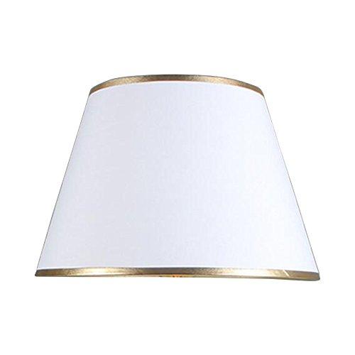 """DULEE Φ 6.3"""" Einfache Tischleuchten Lampenschirm Nachttisch Lampenschirm Wandleuchte Lampenschirme,Weiss mit Gold Brim (Top) 12*(Height) 15cm*(Bottom) 16cm"""